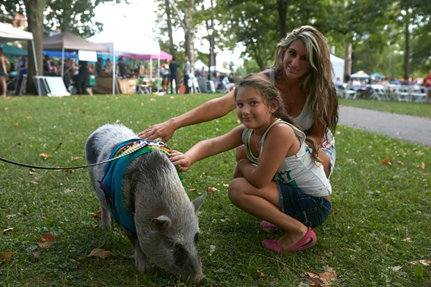 Natalie Fristick and her daughter at VegFest 2016 - PHOTO COURTESY OF SPLICE PHOTOGRAPHY