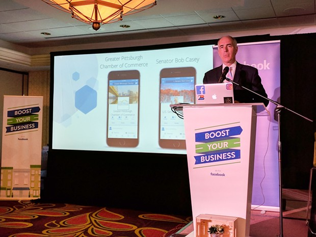 Bob Casey at today's Facebook event in Pittsburgh - CP PHOTO BY REBECCA ADDISON