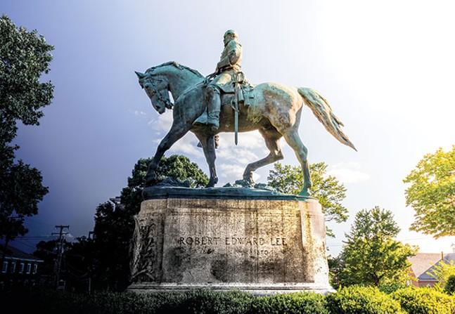 The Robert E. Lee statue in Charlottesville, Va.