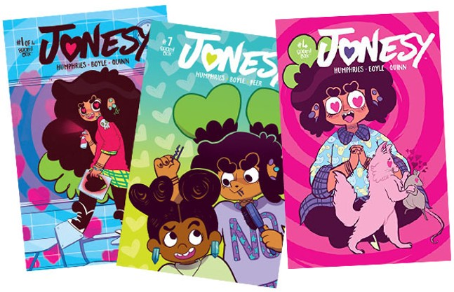 A sample of Jonesy comics