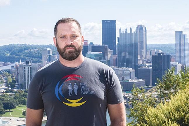 No One Left Behind Pittsburgh Director Matt Landis - CP PHOTO BY JAKE MYSLIWCZYK
