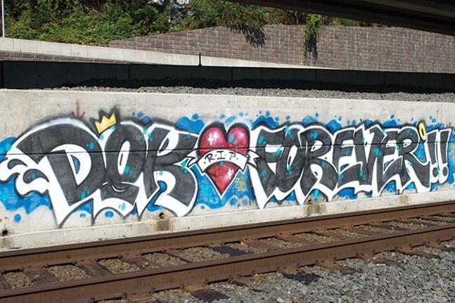 Graffiti tribute to Donald Ketter - CP PHOTO BY JAKE MYSLIWCYZK