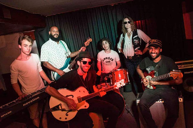 Performing at the Jack White Tribute Show: Mitch McDermott, from The Summercamp; Chris Trepaniger, from Killer of Sheep, Devin Moses and The Saved; Mike Dugan, from Working Breed; Sam Berman, from The Nox Boys; Erika Laing, from Working Breed; and Dhruva Krishna, from MANIC SOUL and Run The Meat - CP PHOTO BY SARAH WILSON