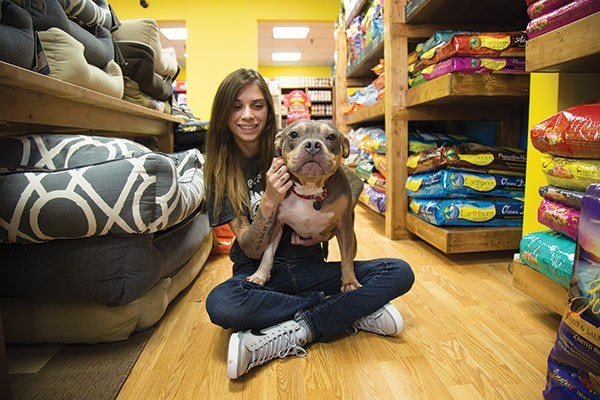 Allison Stetz and Hippo at Best Local Pet Store Petagogy - PHOTO BY THEO SCHWARZ