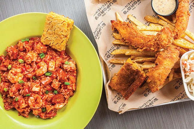 Jambalaya, and chicken and fries - CP PHOTO BY VANESSA SONG