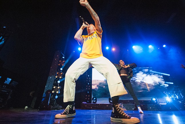 Macklemore on stage during his sold-out show at Stage AE on Tue., Nov. 7 - CP PHOTOS BY JAKE MYSLIWCZYK