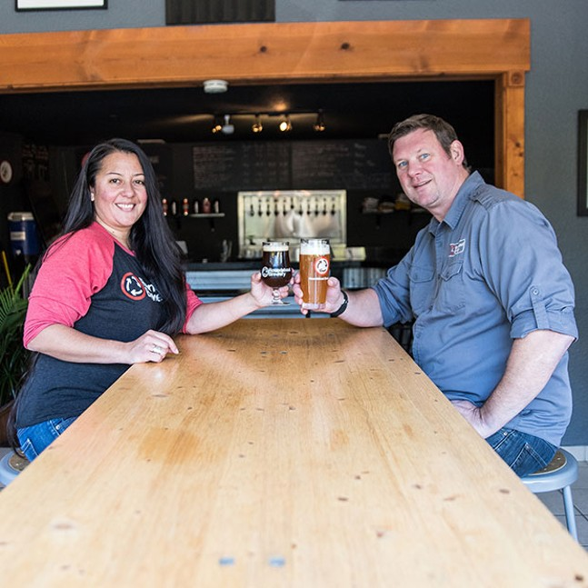 Roundabout Brewery co-owners Diana and Steve Sloan - CP PHOTO BY XAVIER THOMAS