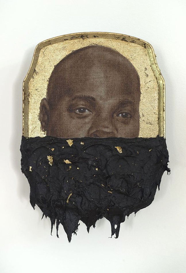"""Titus Kaphar's """"Jerome IV"""" - IMAGE COURTESY OF THE ARTIST AND JACK SHAINMAN GALLERY"""