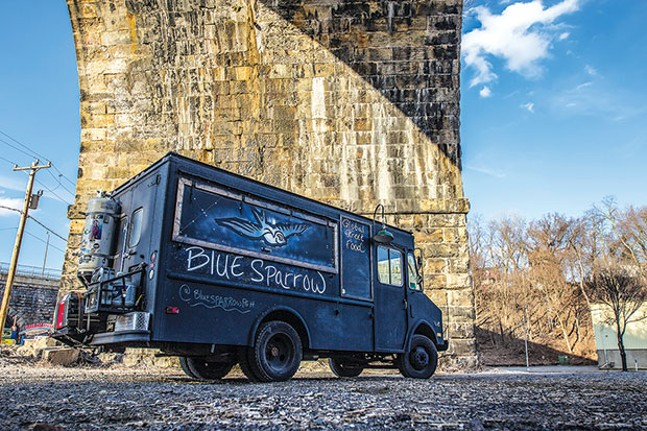 The Blue Sparrow food truck - PHOTO COURTESY OF NICHOLAS HEWITT