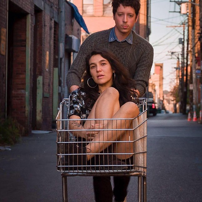 Daniella Trimble and Patrick Coyle of Soft Gondola - PHOTO COURTESY OF ZACK EISENFELD