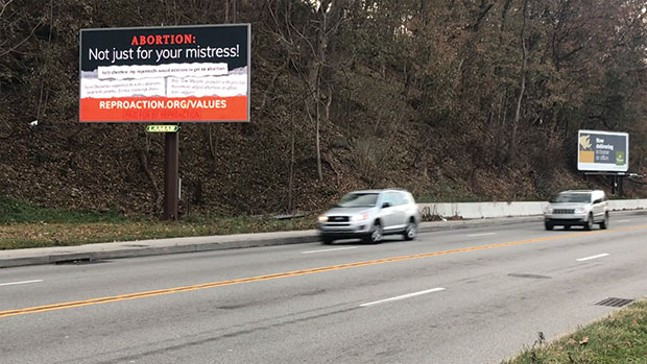 One of the billboards paid for by Reproaction - CP PHOTO BY JAKE MYSLIWCZYK