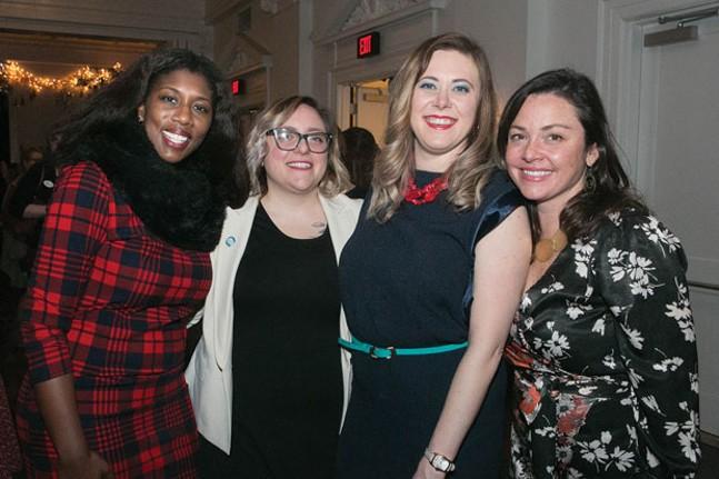WTF Pittsburgh founders Marita Garrett, Ashleigh Deemer, Natalia Rudiak and Chelsa Wagner - CP PHOTO BY JOHN COLOMBO