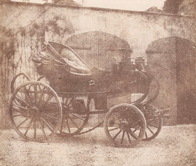 """William Henry Fox Talbot's 1844 photo """"A Barouche Parked in the North Courtyard of Lacock Abbey"""" - IMAGE COURTESY OF CARNEGIE MUSEUM OF ART, GIFT OF WILLIAM T. HILLMAN"""