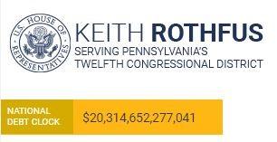 The debt clock on Keith Rotfhus' homepage