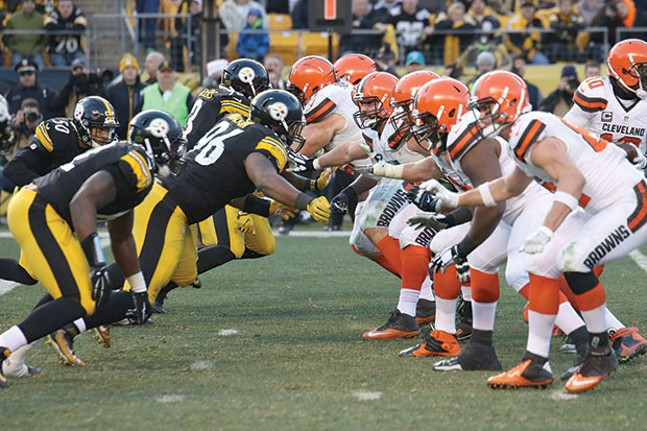 Steelers vs. Browns in early 2017 - CP PHOTO BY LUKE THOR TRAVIS
