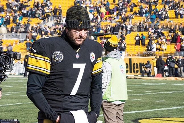 Ben Roethlisberger at Heinz Field on Sun., Jan. 14 - CP PHOTO BY JAKE MYSLIWCZYK