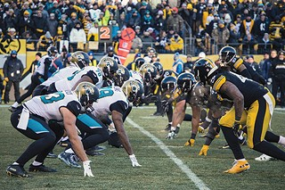The Jacksonville Jaguars at Heinz Field earlier this month - CP PHOTO BY JAKE MYSLIWCZYK