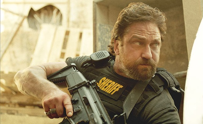 Action man: Gerard Butler