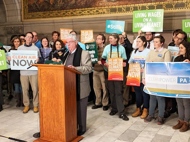 Sen. Wayne Fontana at today's press conference - CP PHOTO BY REBECCA ADDISON