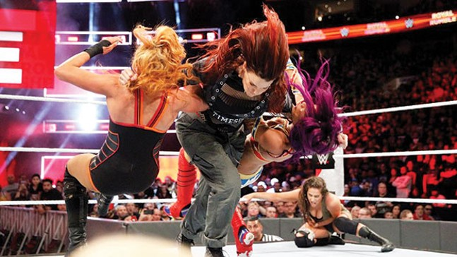 "WWE Hall of Famer Amy ""Lita"" Dumas made her return to the ring in the historic Women's Royal Rumble. - PHOTO COURTESY OF WWE.COM"