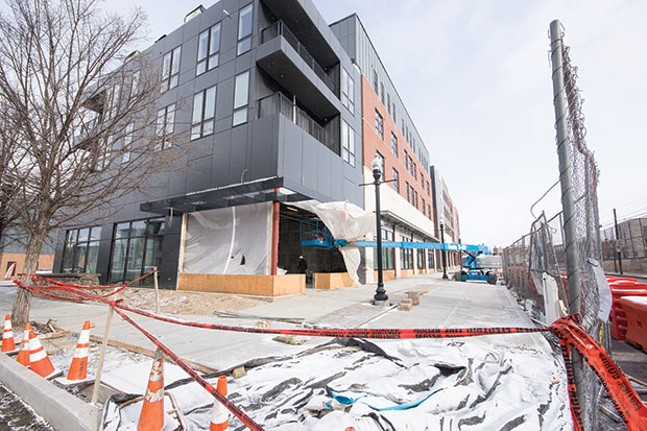 The Arsenal 201 apartment complex in Lawrenceville is set to open soon, even as demand for high-end rentals is dipping. - CP PHOTO BY JAKE MYSLIWCZYK