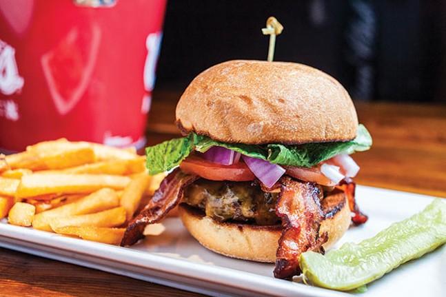 Bacon cheeseburger with fries, at Blush - CP PHOTO BY VANESSA SONG