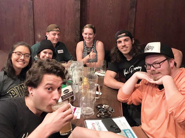 The Voodoo Brewery team playing trivia at Hough's Taproom and Brewpub - PHOTO COURTESY OF VOODOO BREWERY