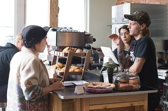 Inside Kaibur Coffee - CP PHOTO BY JAKE MYSLIWCZYK