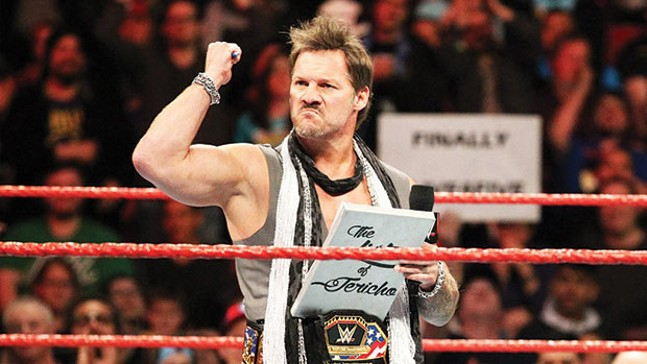 Chris Jericho putting a whole city on his list - PHOTO COURTESY OF WWE.COM