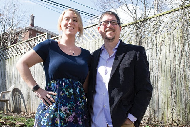 Patrick Nightingale, with his wife, Teresa, are marijuana advocates who believe medical cannabis can reduce the number of opioids prescribed in the Pittsburgh area. - CP PHOTO BY JAKEMYSLIWCZYK