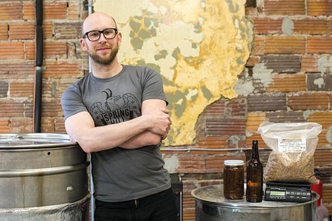 Greg Kamerdze, head brewer at Spring Hill Brewing - CP PHOTO BY JOHN COLOMBO