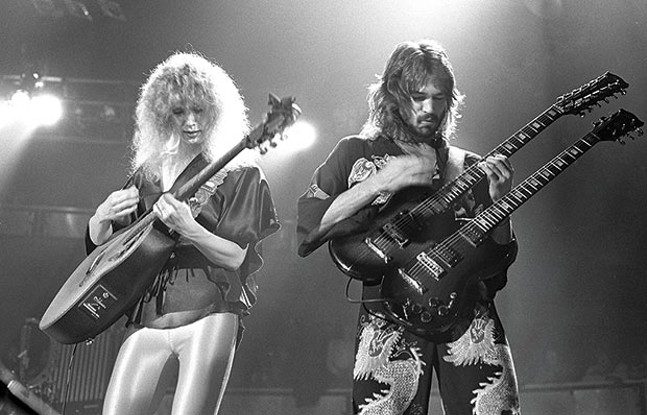 Heart's Nancy Wilson and Robert Fisher on stage in 1978 - PHOTO COURTESY OF JIM SUMMARIA, CREATIVE COMMONS