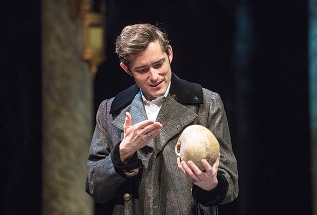 A weary life: Matthew Amendt as Hamlet - PHOTO COURTESY OF MICHAEL HENNINGER
