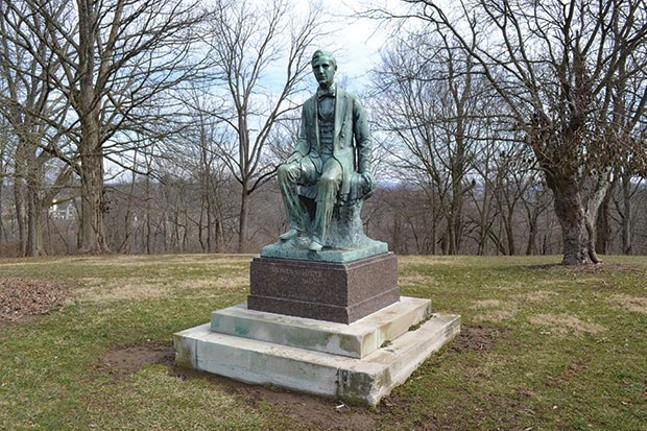 Stephen Foster statue in Alms Park in Cincinnati - PHOTO COURTESY OF CINCINNATI PARKS