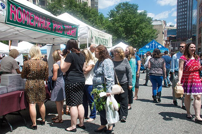 Downtown's Friday market - CP PHOTO BY JORDAN MILLER