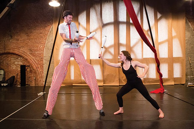 "O'Ryan ""the O-Mazing"" Arrowroot and Marcella Day in Escape Velocity -  - PHOTO COURTESY OF HEATHER MULL PHOTOGRAPHY"