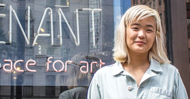 Curator Christina Lee at Future Tenant - CP PHOTO BY ANNIE BREWER
