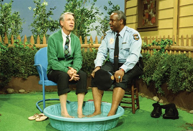 Fred Rogers with Francois Scarborough Clemmons from his show Mr. Rogers Neighborhood in the film, Won't You Be My Neighbor? - PHOTO COURTESY OF JOHN BEALE