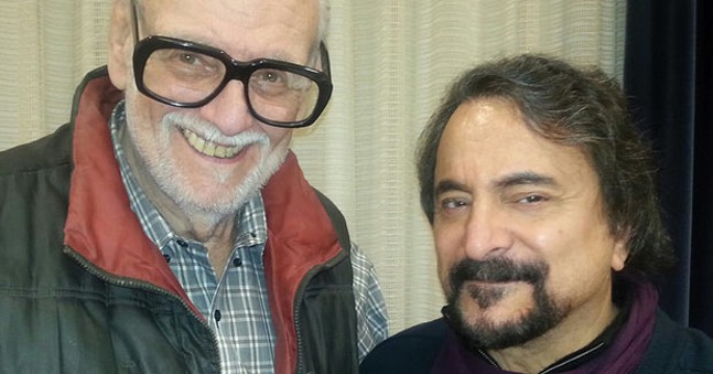 The late George Romero (left) with Tom Savini - PHOTO COURTESY OF TOM SAVINI