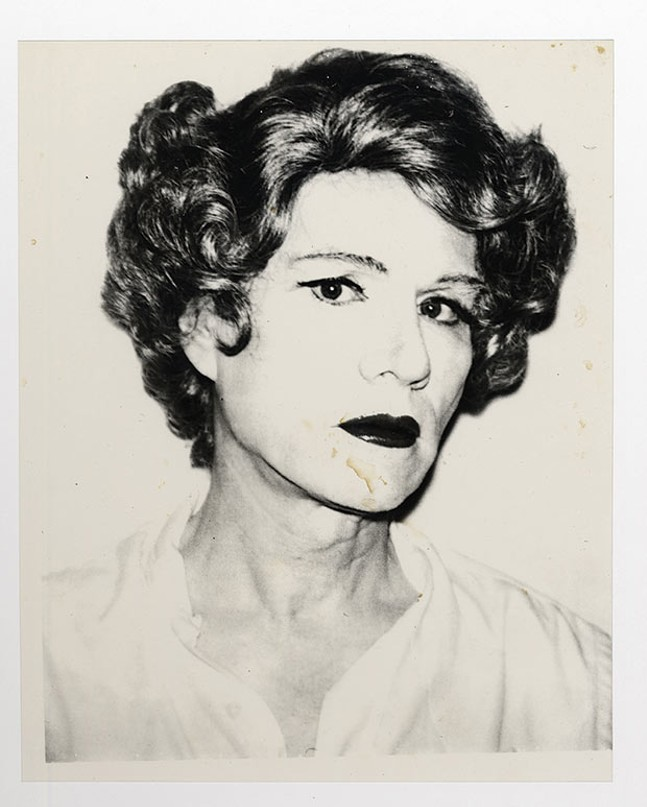 """Andy Warhol's """"Small Acetate (Self-Portrait in Drag)"""" - IMAGE COURTESY OF THE ANDY WARHOL MUSEUM"""