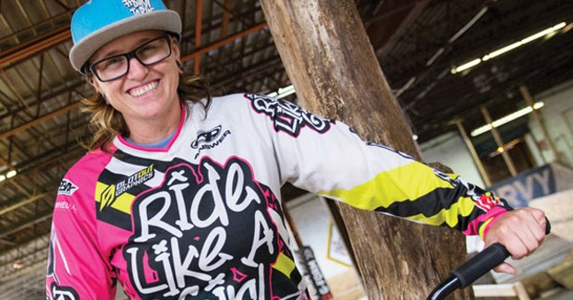 Carley Young, creator of Ride Like A Girl, at the Wheel Mill - CP PHOTO BY SARAH WILSON