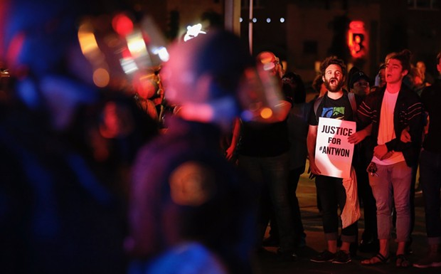 Scene from Antwon Rose protest on June 22 - CP PHOTO BY JARED WICKERHAM