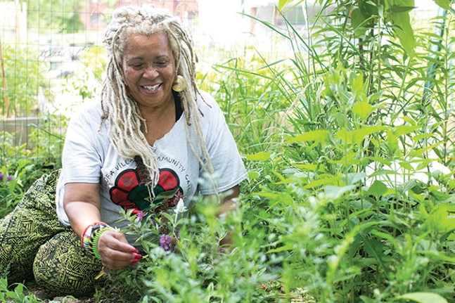Vikki Ayanna Jones of Sankofa Village Community Garden - CP PHOTO BY JOHN COLOMBO