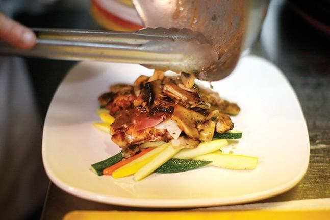 Chicken scallopini with mushroom marsala sauce - CP PHOTO BY JARED WICKERHAM