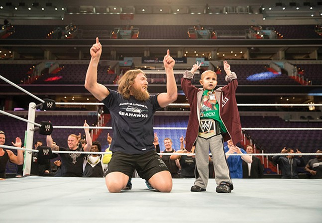 It was in Pittsburgh that WWE superstar Daniel Bryan formed a friendship with the late Connor Michalek. For the Extreme Rules show at PPG Paints Arena on Sunday, Bryan returns to wrestle in Pittsburgh for the first time in years.