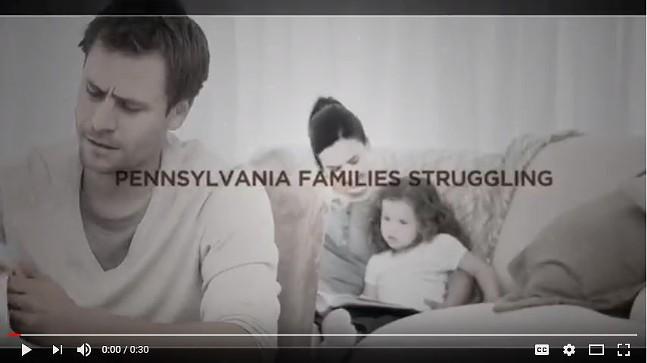 Screenshot of Scott Wagner ad