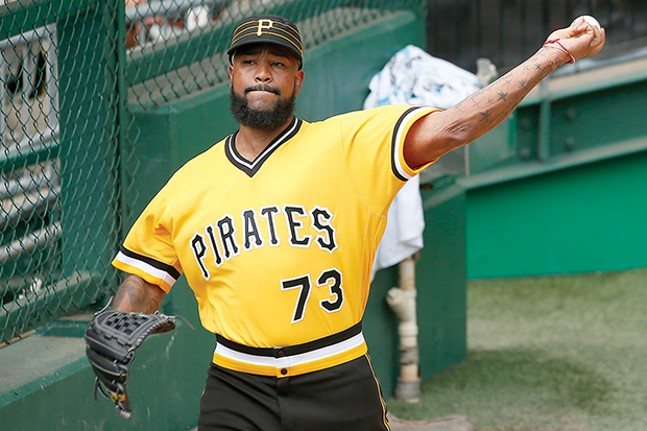 Pittsburgh Pirate All-Star Felipe Vasquez - CP PHOTO BY JARED WICKERHAM