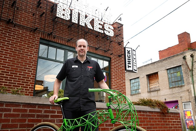 Thick Bikes owner Christopher Beech - CP PHOTO BY JARED WICKERHAM