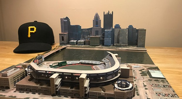 Meet the man who builds miniature ballparks, including PNC Park, for charity