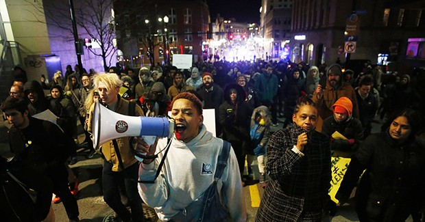 Hundreds protest following not guilty verdict of Antwon Rose shooter Michael Rosfeld